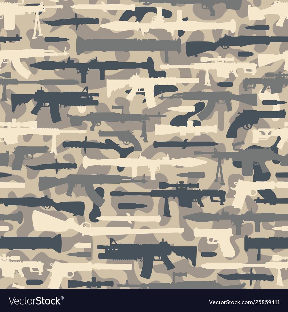 Vintage military seamless pattern