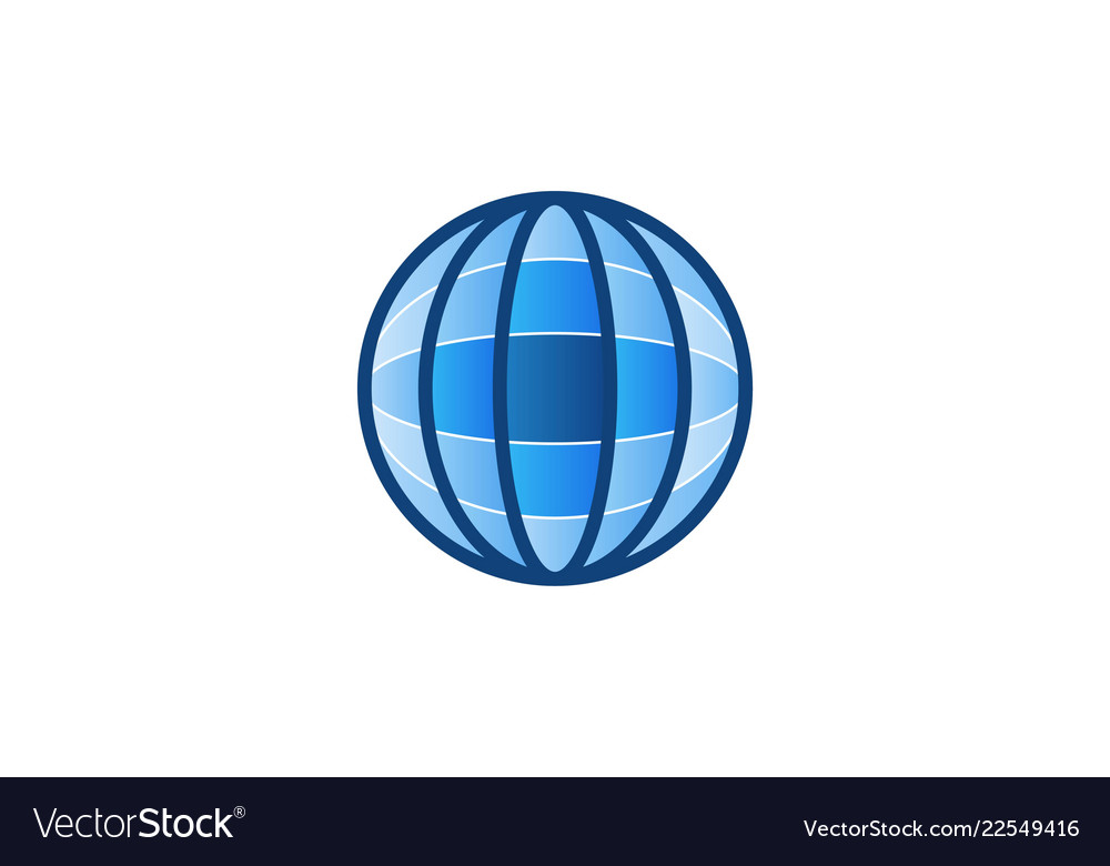 Abstract globe earth logo designs inspiration
