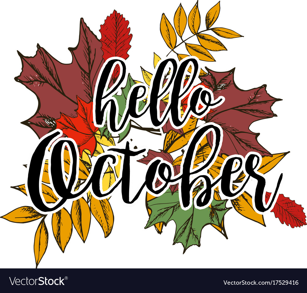 Autumn background with text