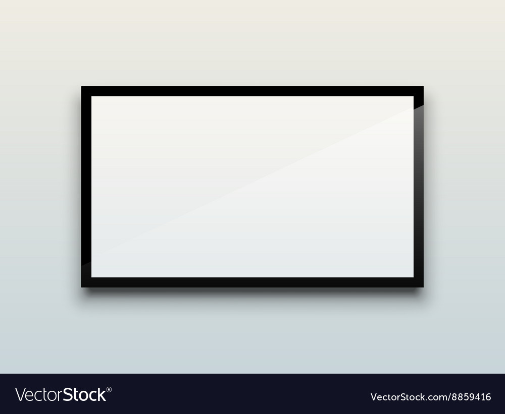 Blank tv screen