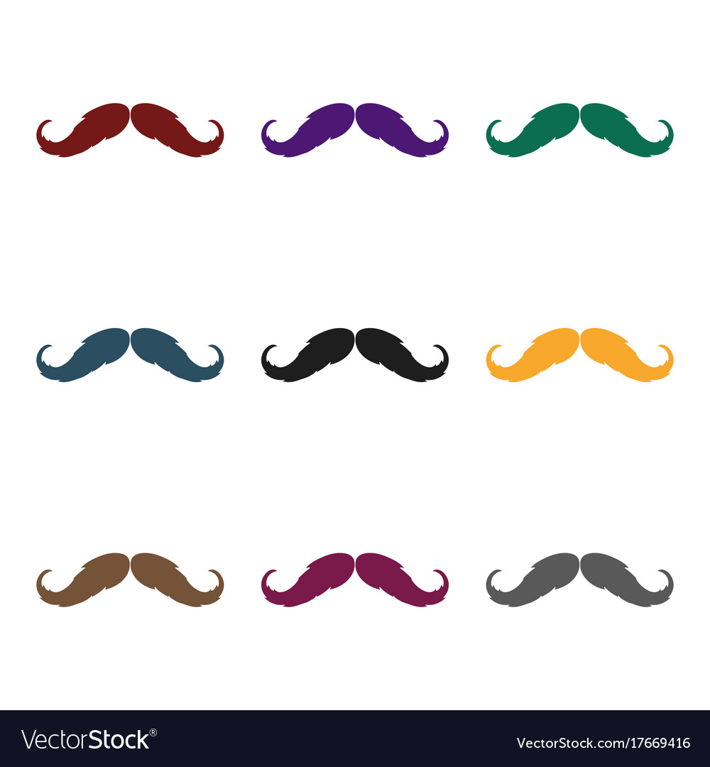 Hipster mustache icon in black style isolated on