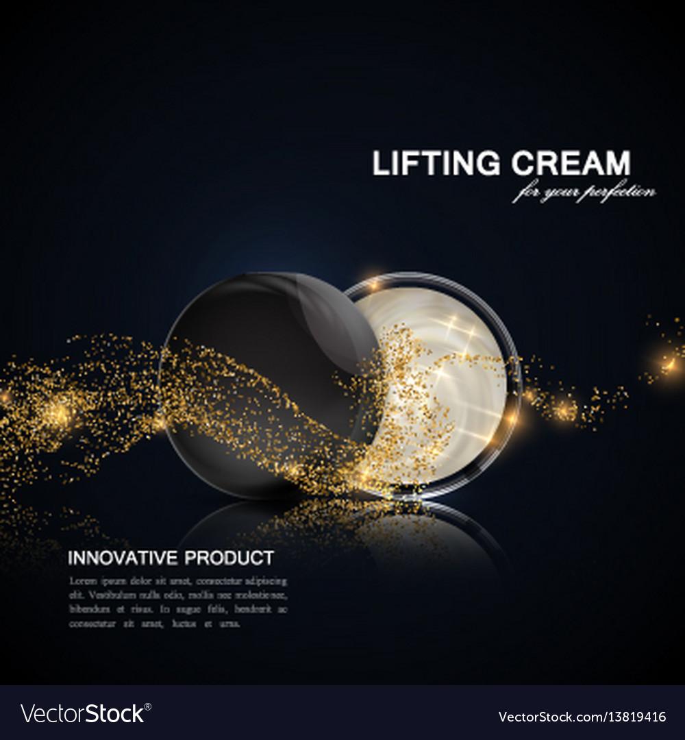 Lifting facial cream ads poster template