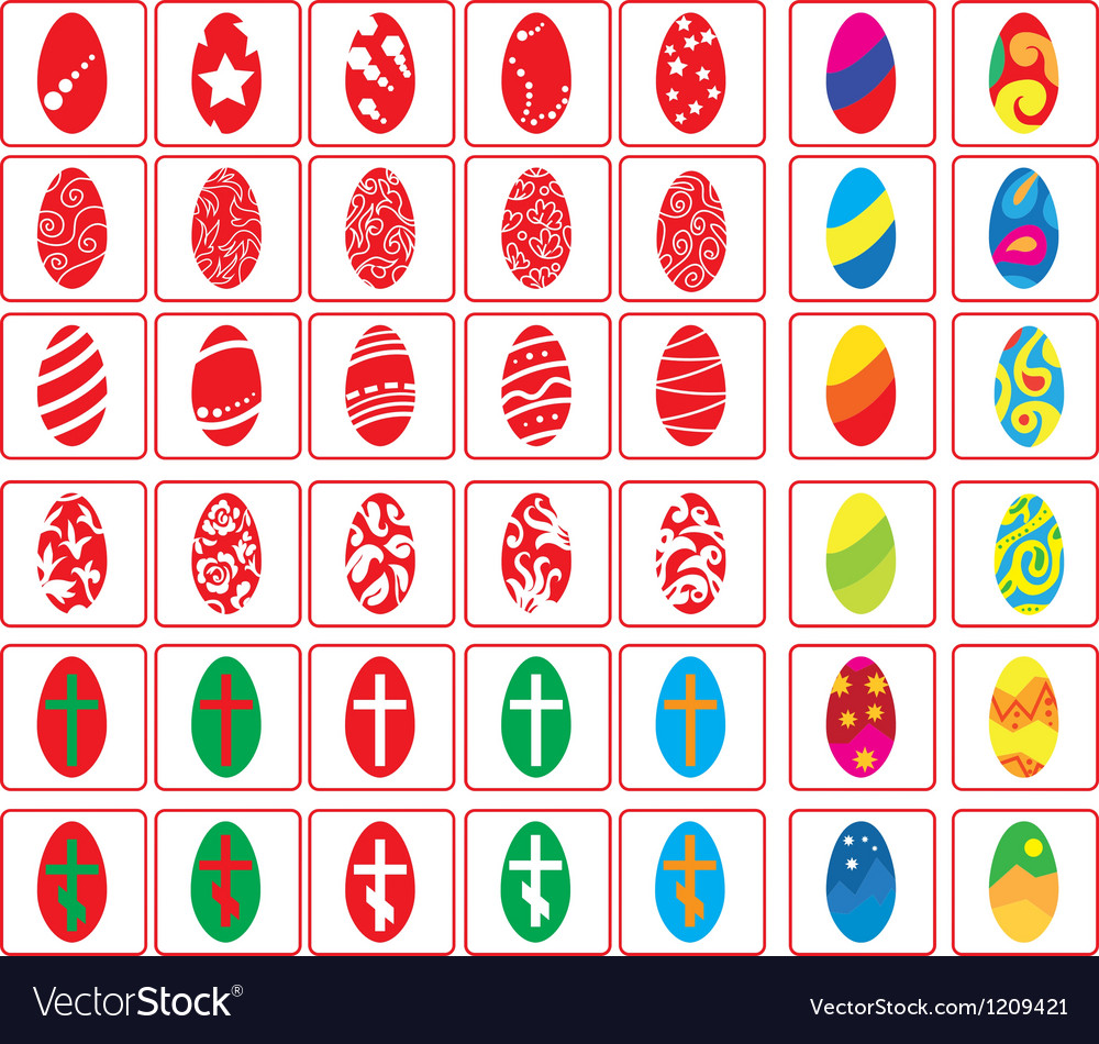 Big set of Easter eggs