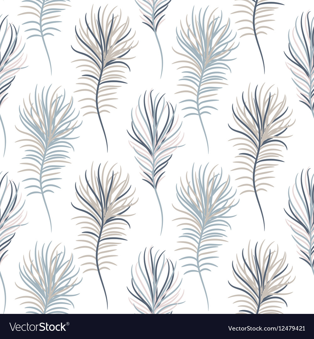 Bird pastel blue seamless pattern