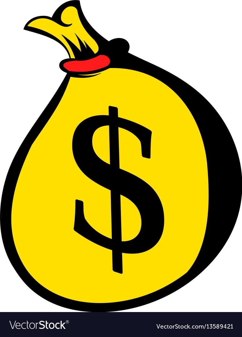 Money bag with dollar sign icon icon cartoon