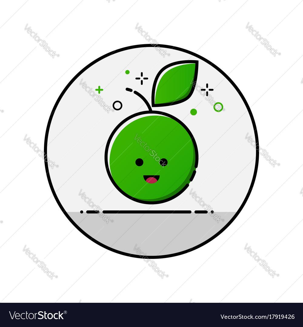 Flatl ine apple icon