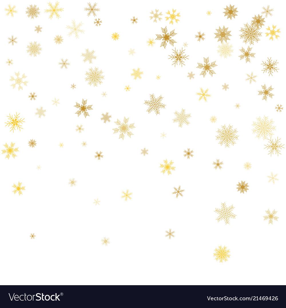 White Christmas Background.White Christmas Snowflakes Background Gold