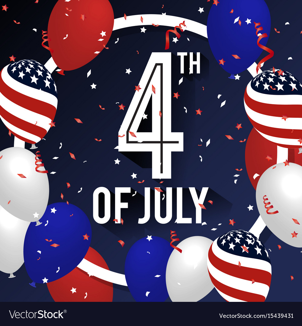 4th july celebration background design