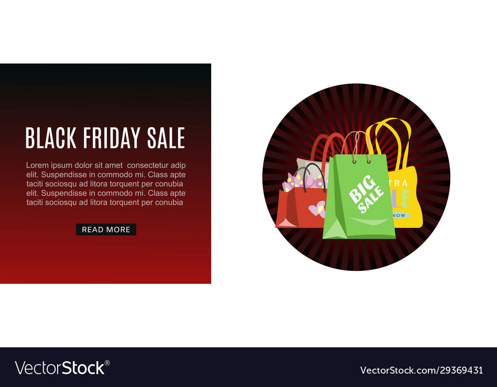 Black friday sale shopping bags marketing web