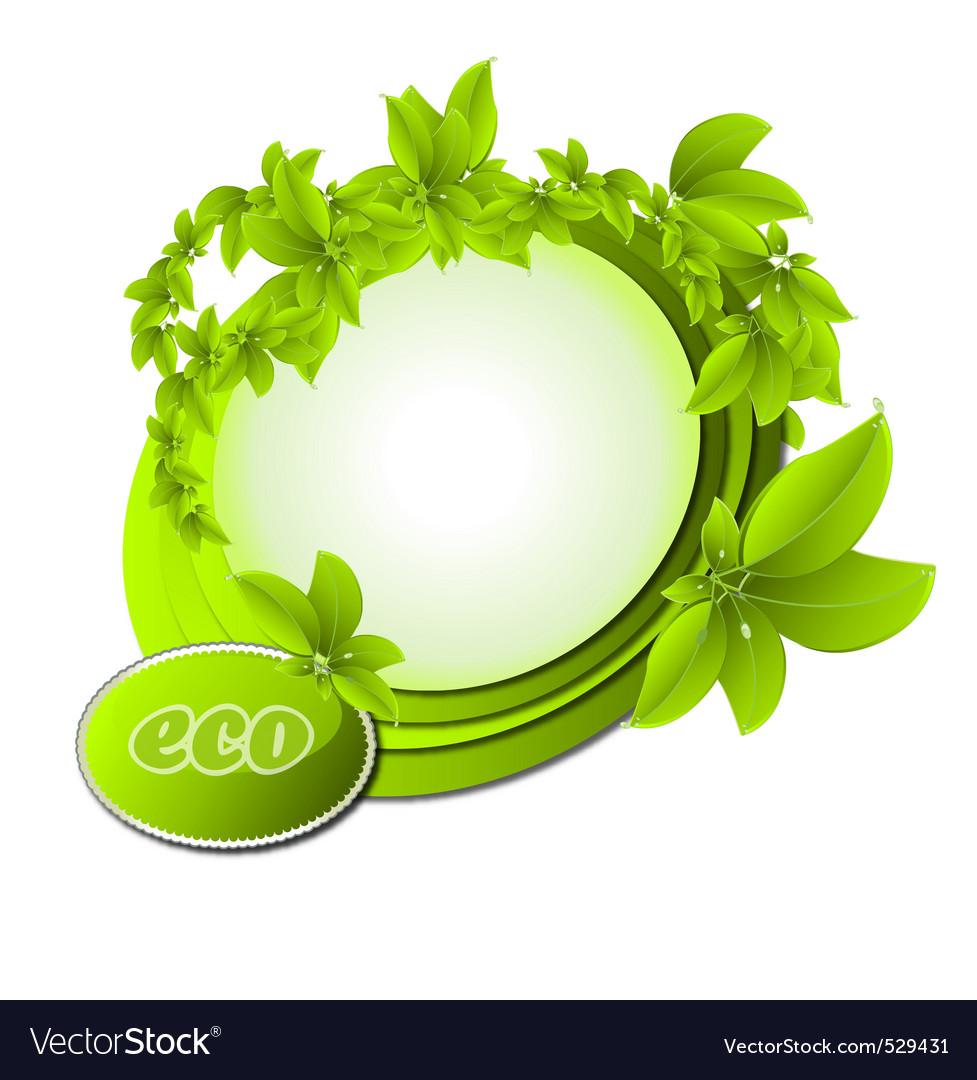 Ecology border vector image