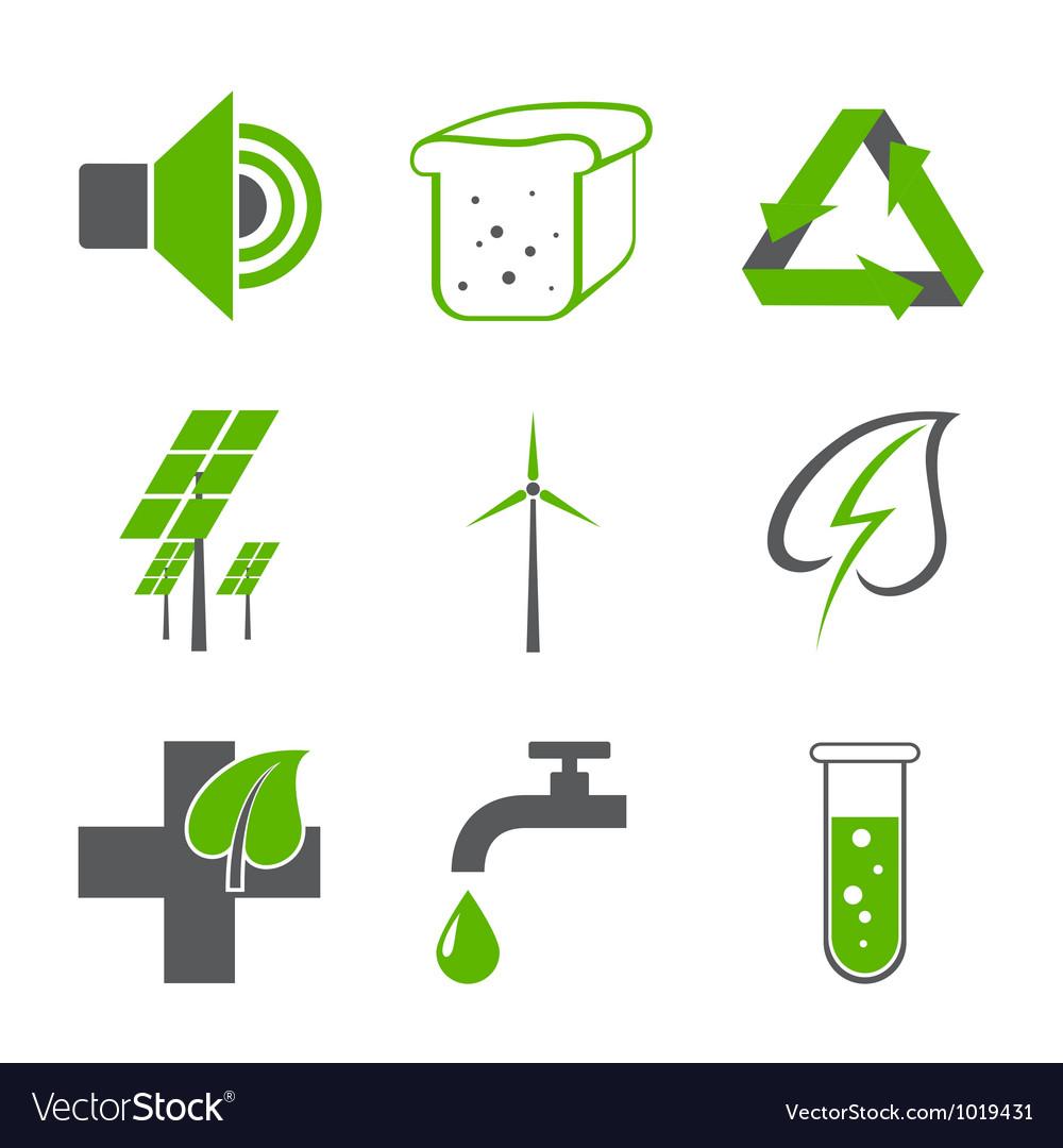 Environmental logos vector image