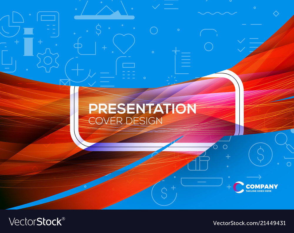 Presentation cover design colorful abstract