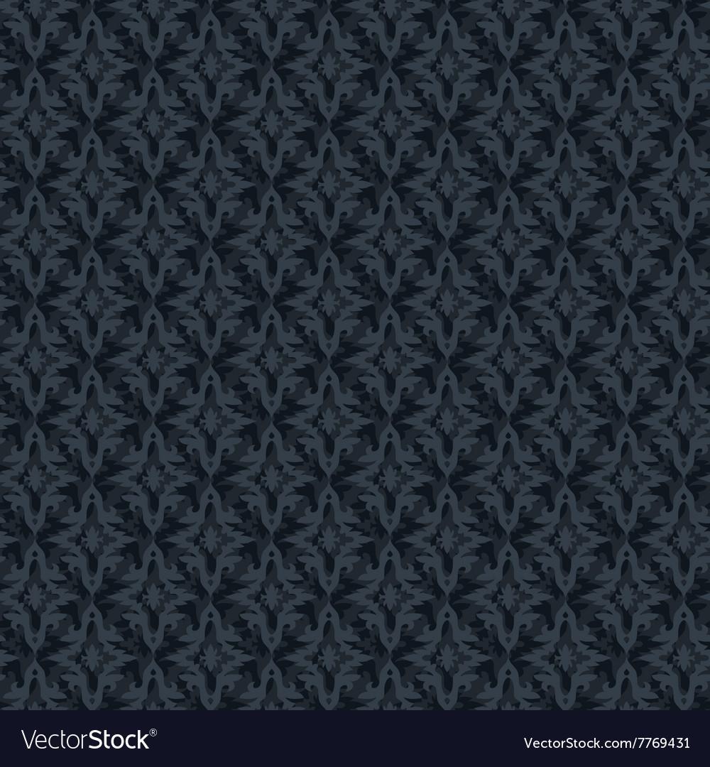 Seamless abstract dark blue retro pattern in