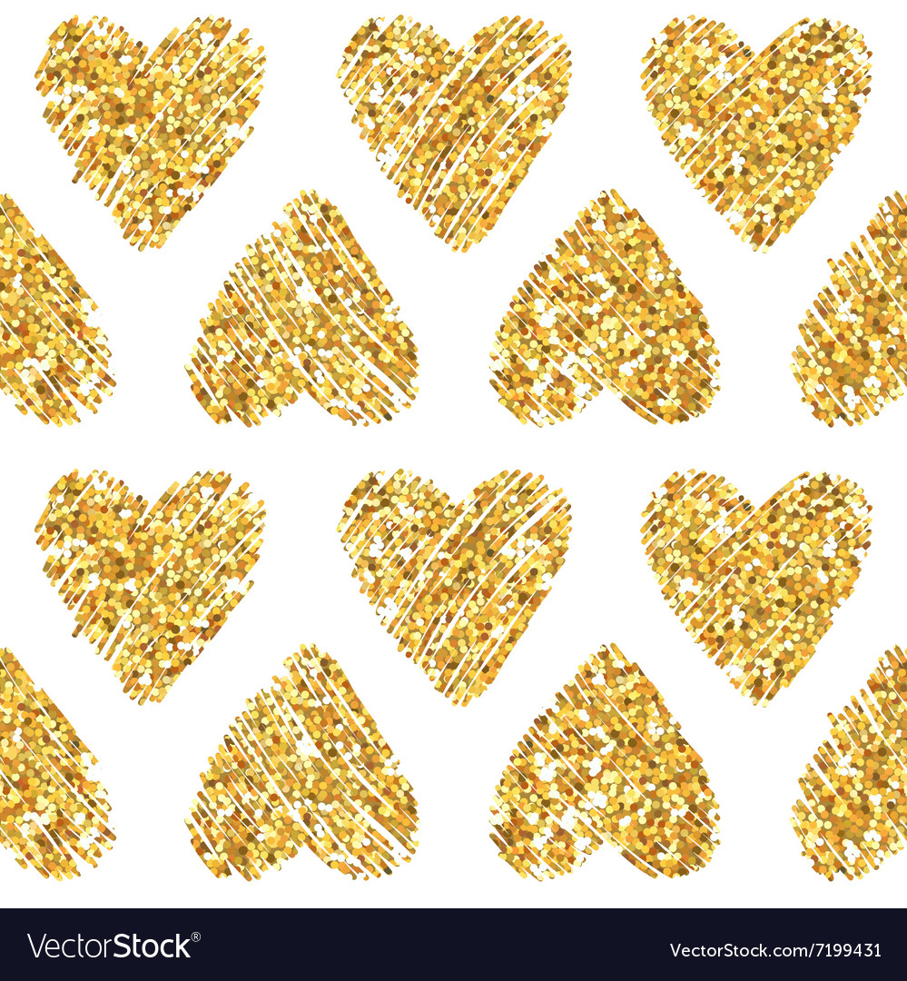 Valentines Day Heart Glitter Pattern vector image