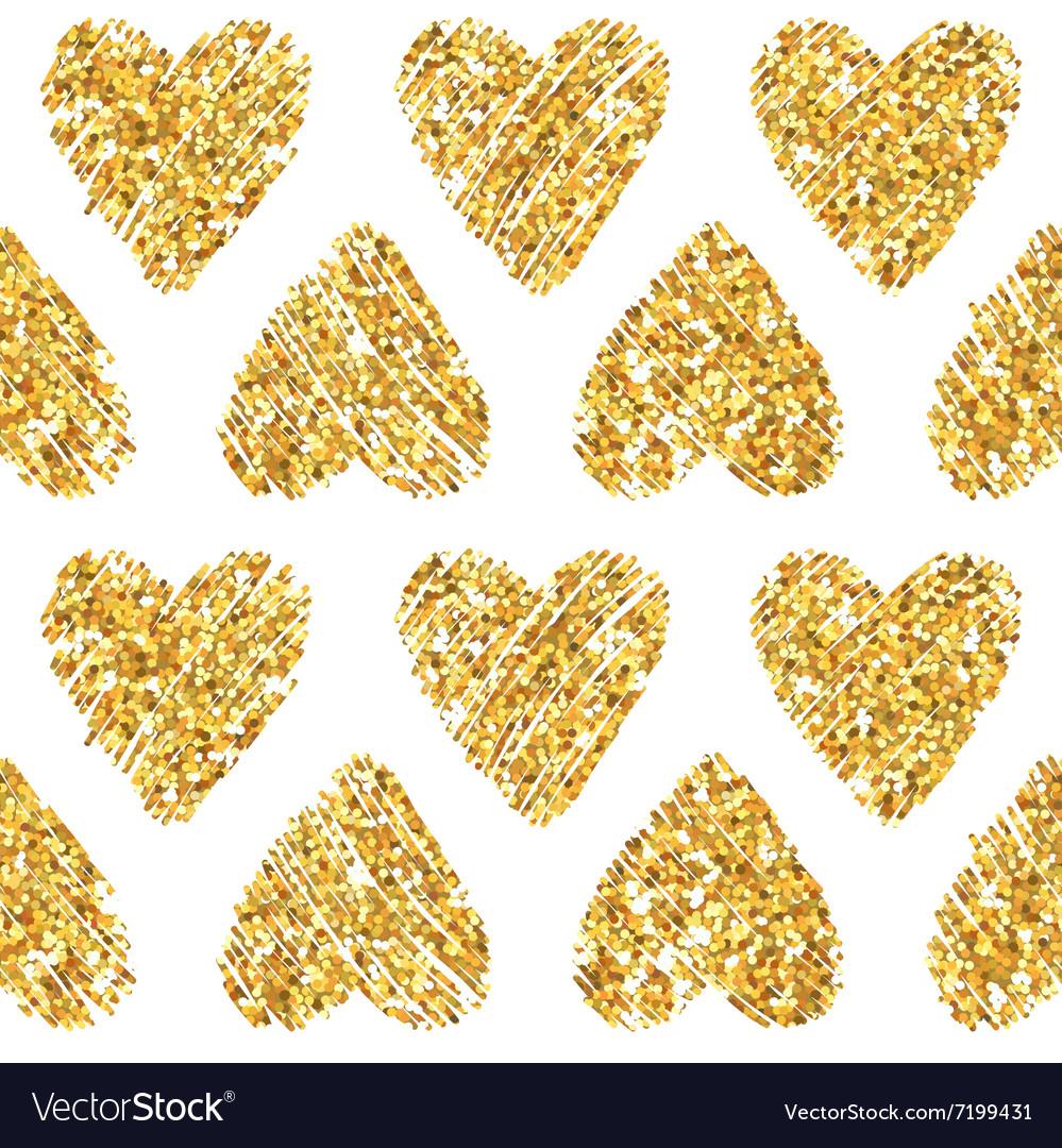 Valentines Day Heart Glitter Pattern