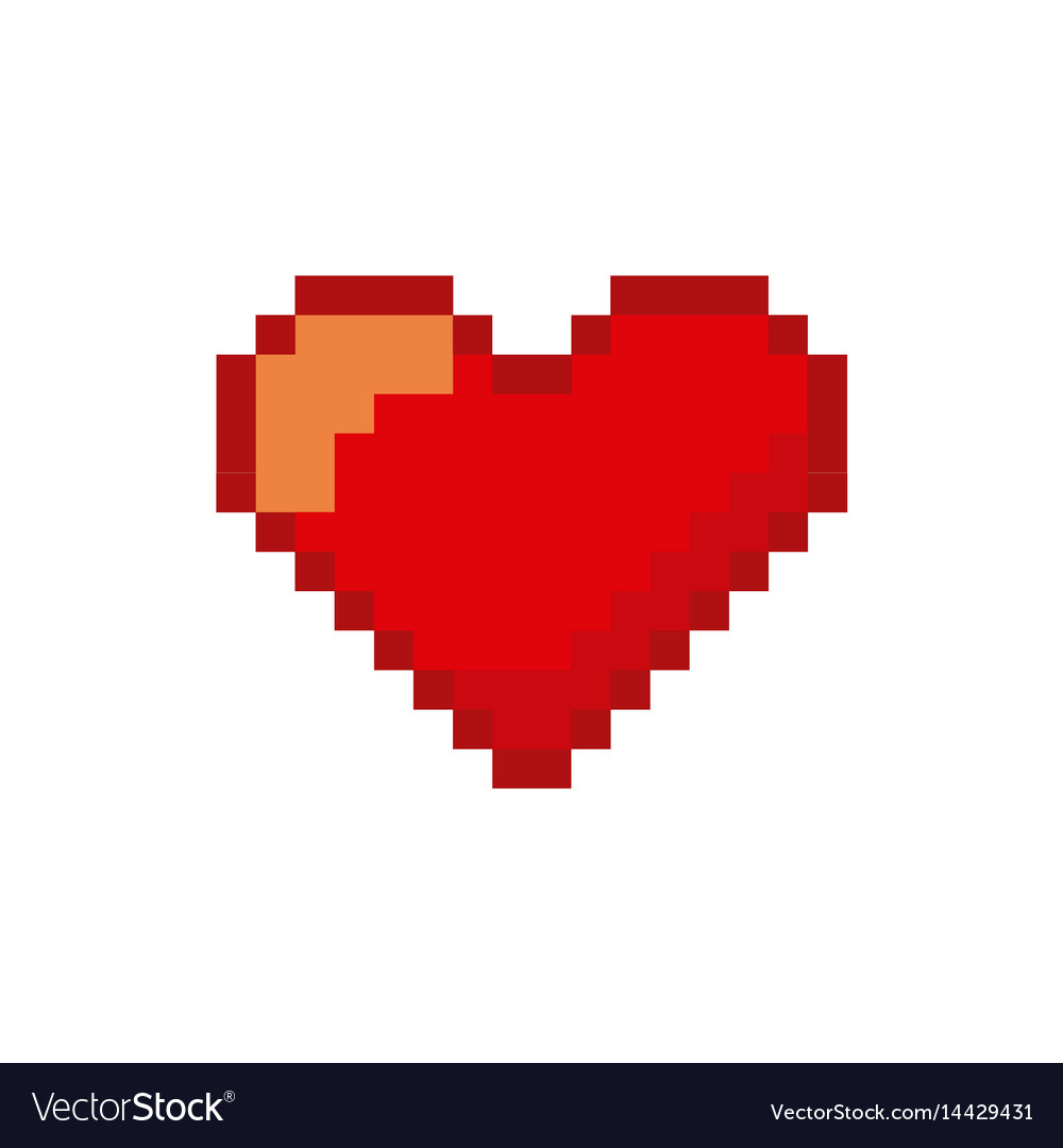 Video Game Heart Pixelated Icon Royalty Free Vector Image