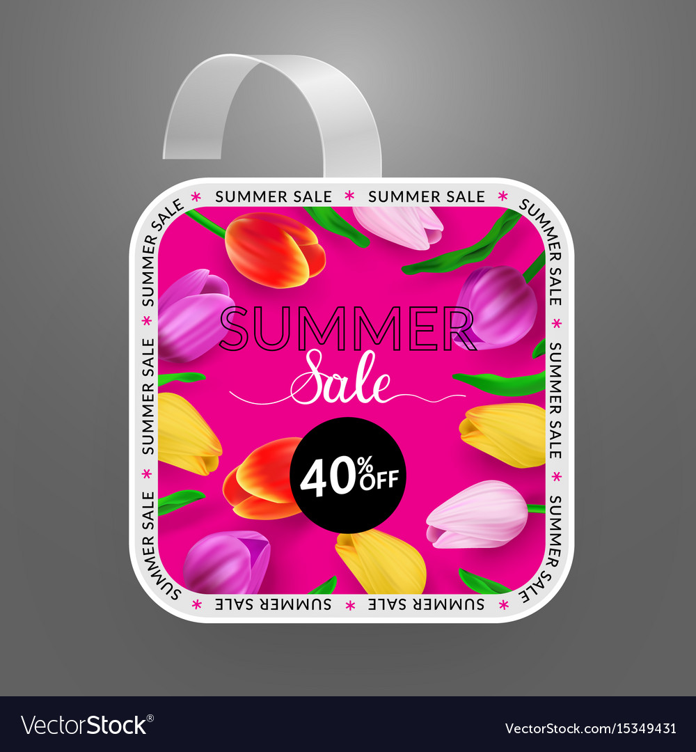 Wobbler design template summer sale with bright