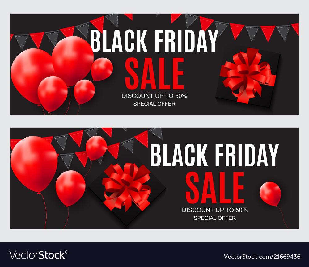 Black friday sale inscription banner design