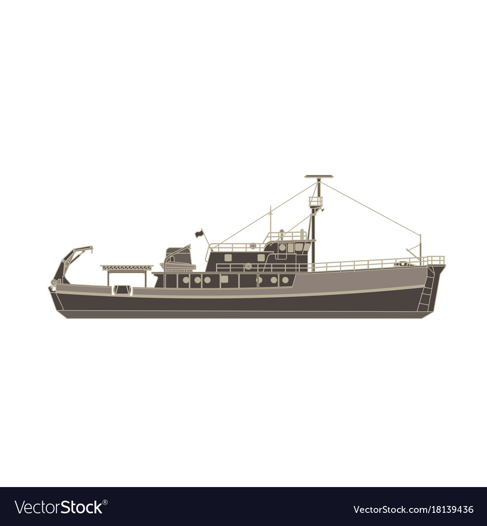 Cargo ship flat icon isolated vessel container