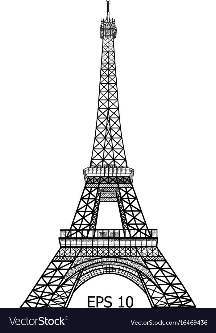 eiffel tower in paris eps 10 royalty free vector image vectorstock