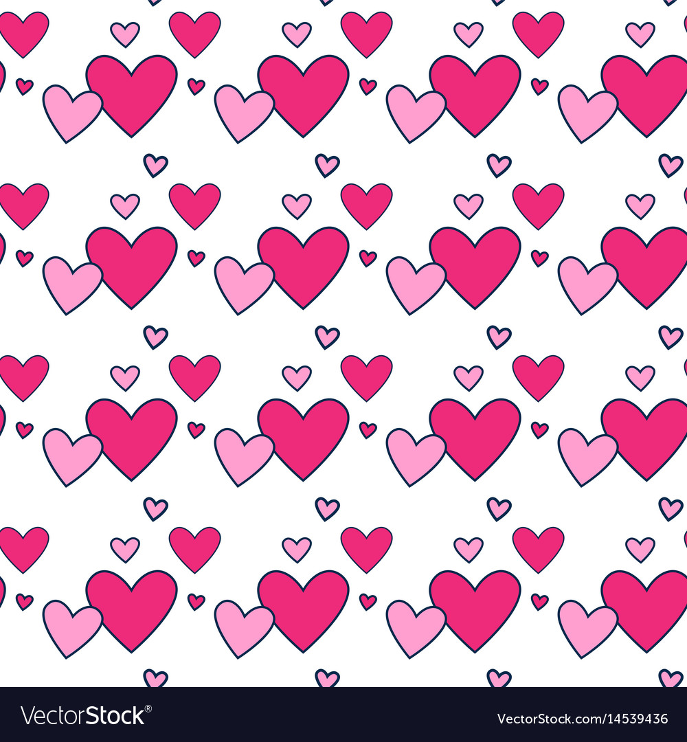 Heart shape love symbol seamless pattern vector image