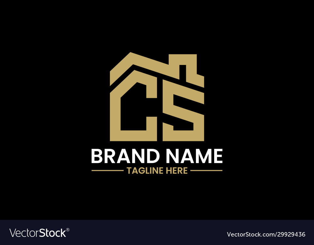 Initial letter c and s with roreal estate