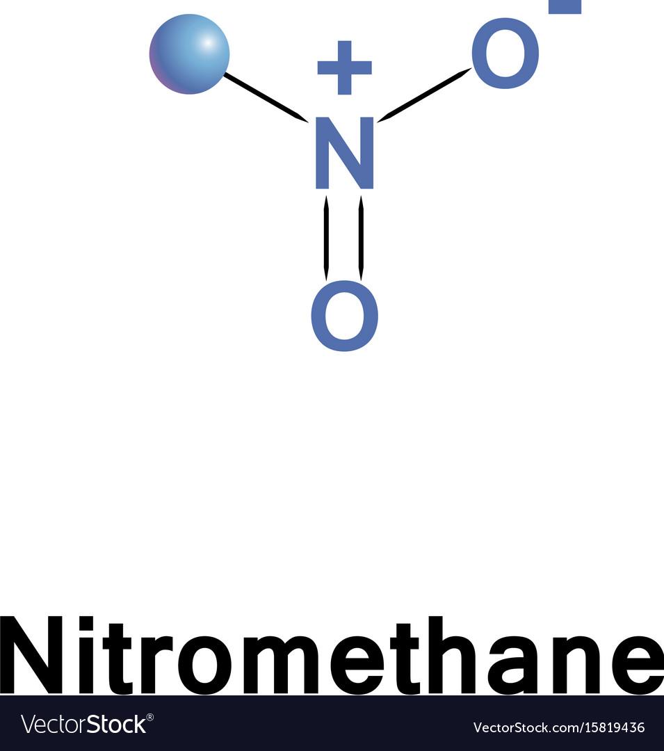 Nitromethane is an organic compound vector image