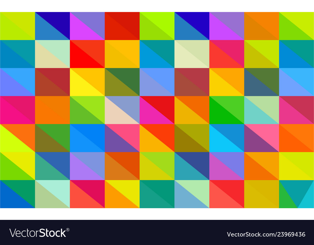 Polygon multicolor background