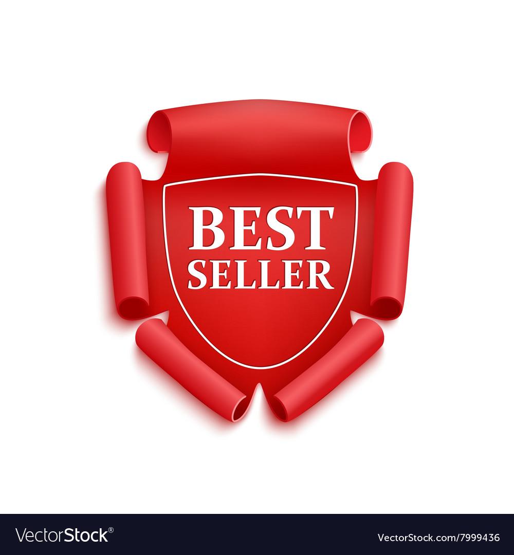 Red best seller sticker