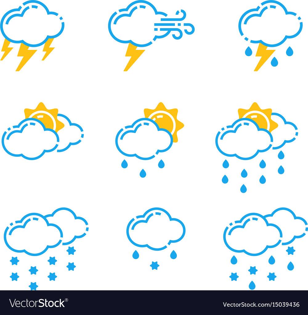 Set of weather icons season