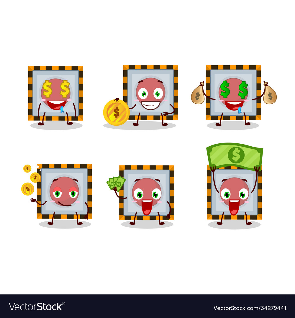 Among Us Emergency Button Cartoon Character With Vector Image