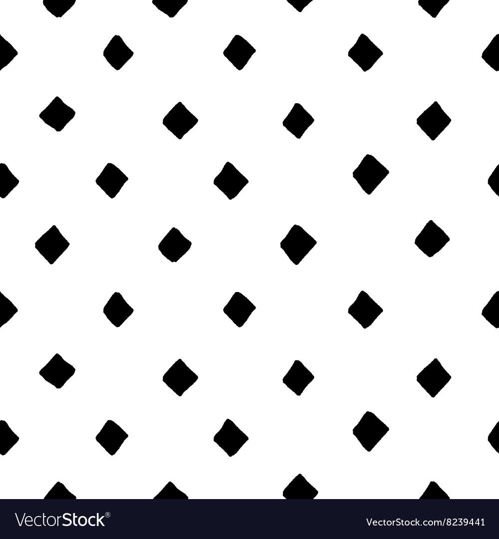 Black and white diamond shape hand drawn simple
