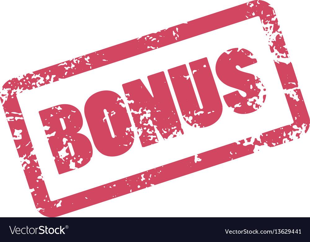 Bonus inscription in red frame rubber stamp bonus