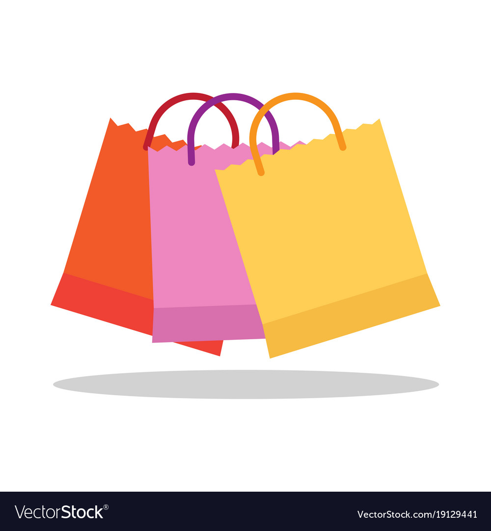 colorful shopping bags royalty free vector image vectorstock
