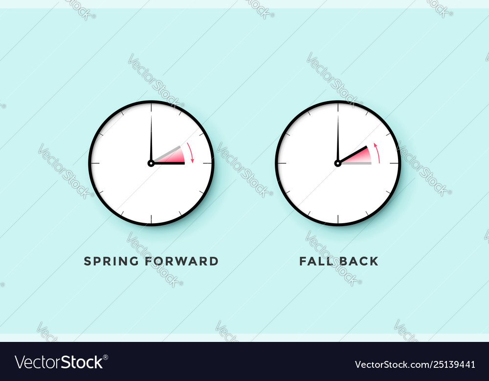 Daylight saving time set clock time for spring