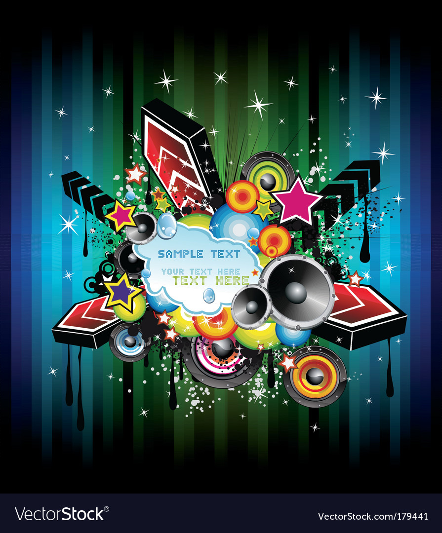 Disco music poster vector image