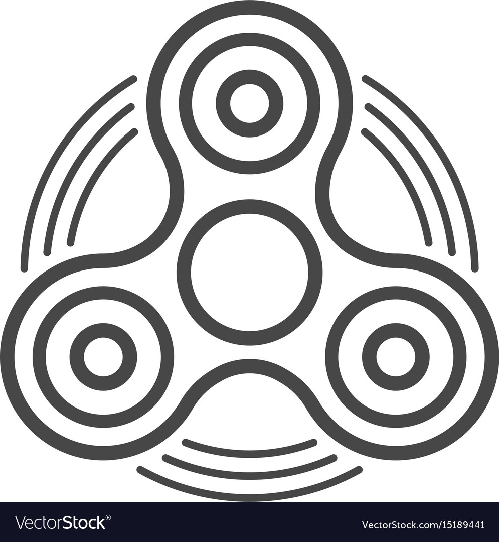 Fidget spinner line icon