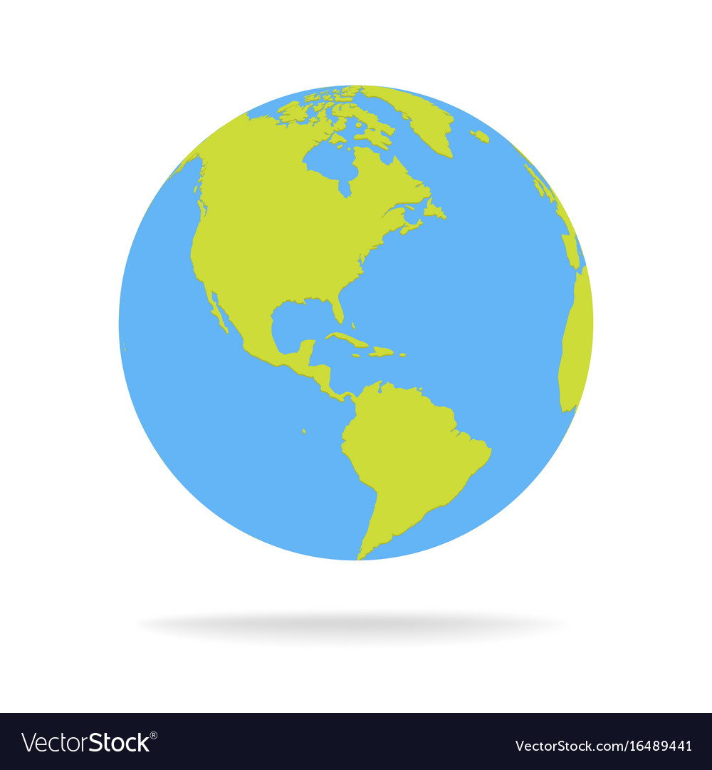 Green And Blue Cartoon World Map Globe Royalty Free Vector