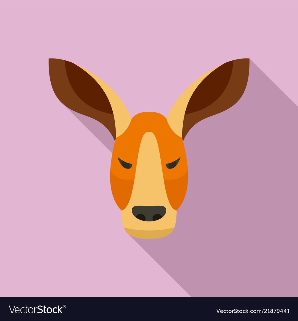 Kangaroo icon flat style