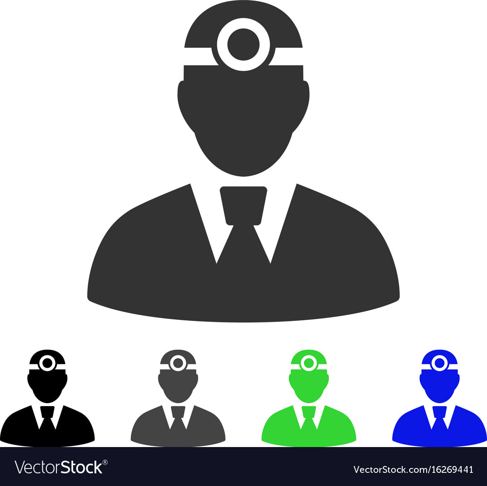 Optician doctor flat icon vector image