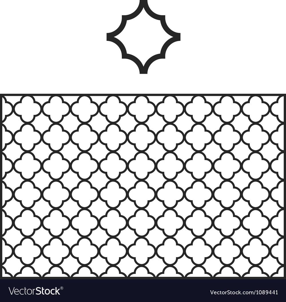 Quatrefoil Pattern Swatch