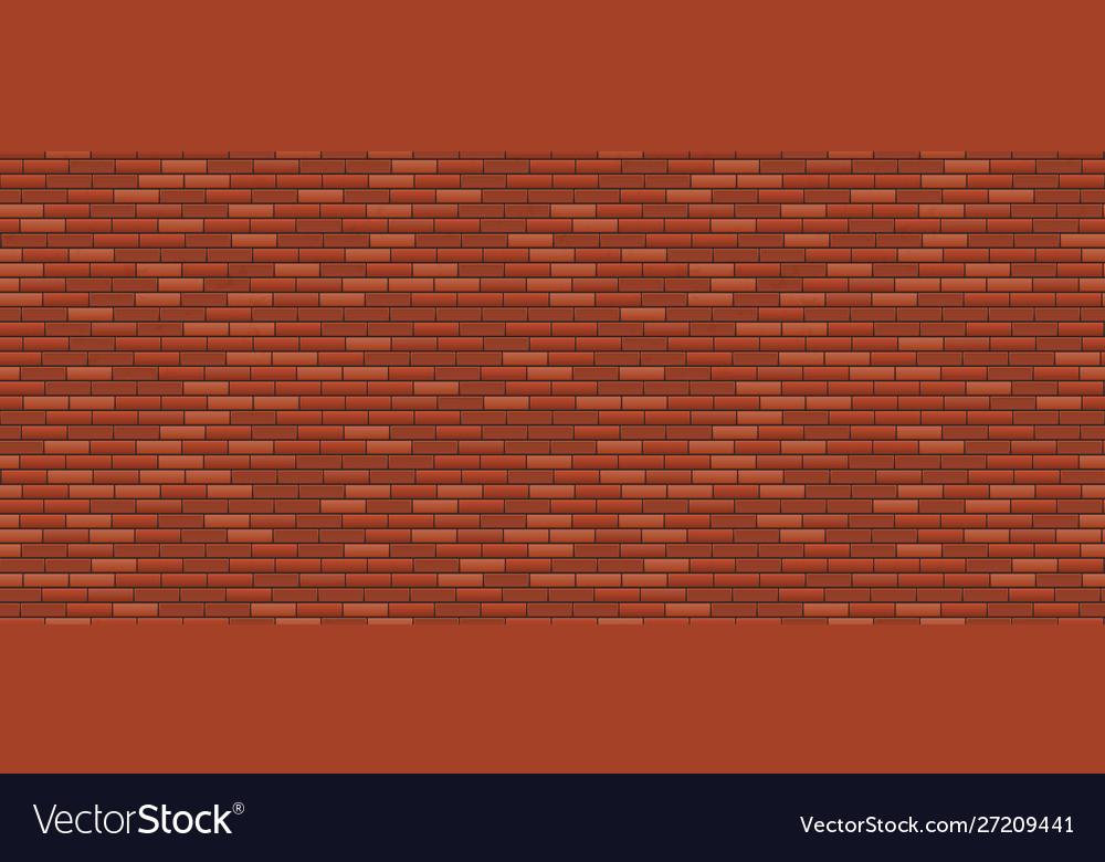 Seamless brick wall old red brick wall background