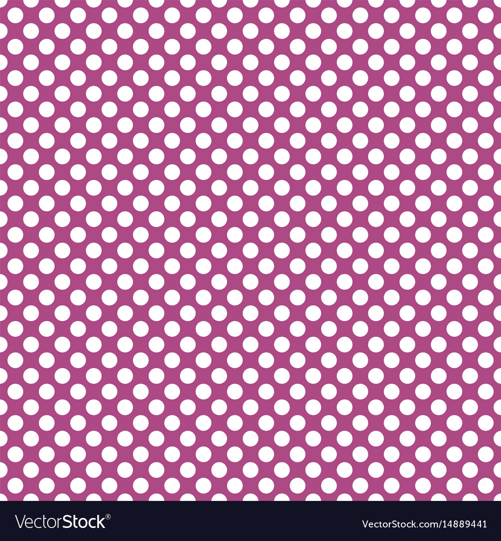 Tile pattern with white polka dots on violet vector image