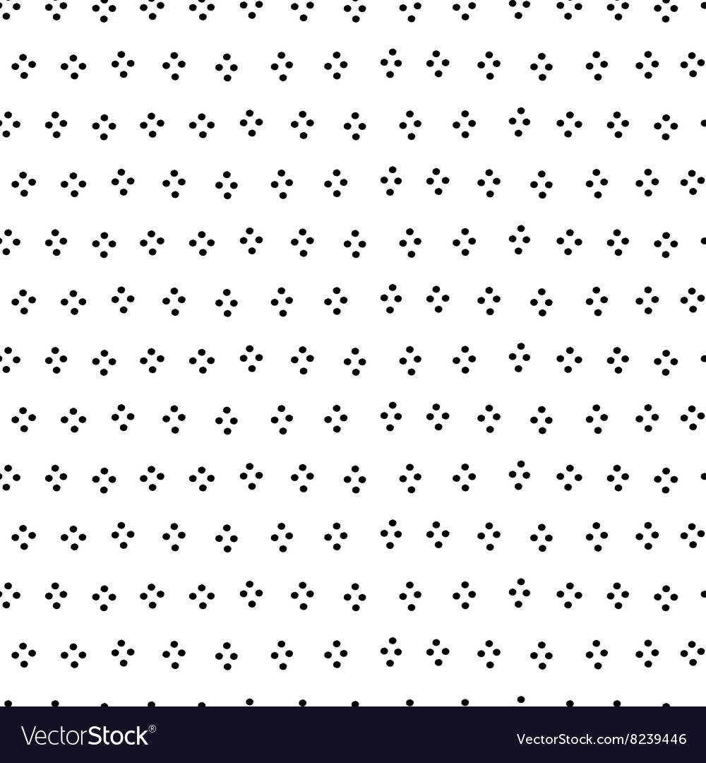 Black and white dots hand drawn simple geometric