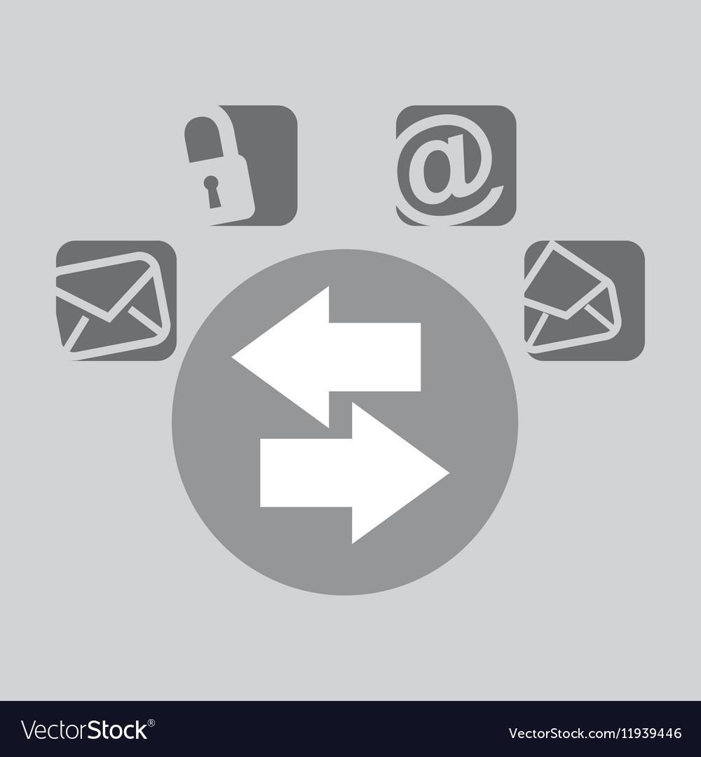 Connected bubble speech social media vector image