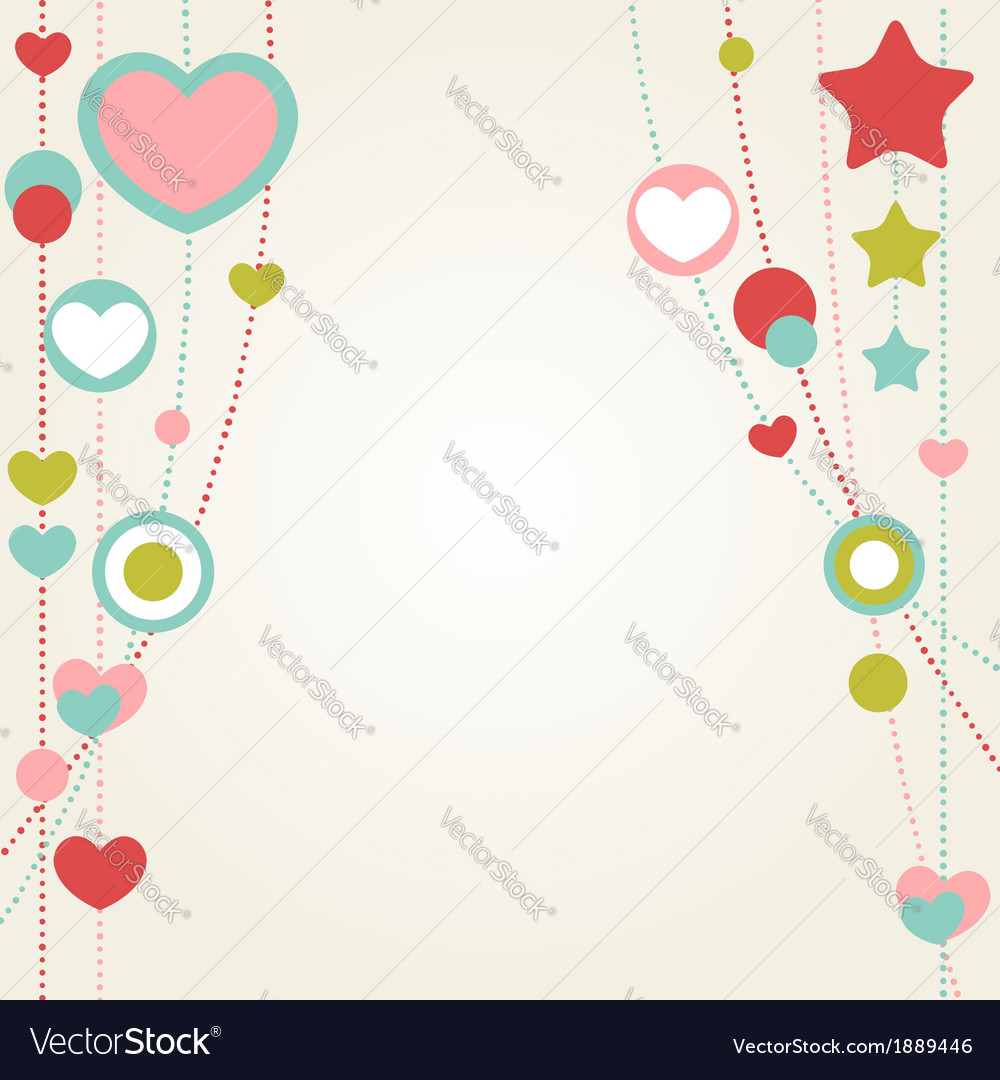 Cute congratulation card with border of hearts