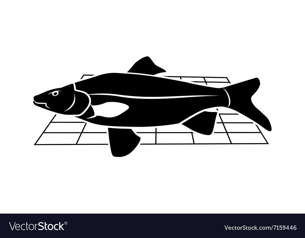 Fish on grille icon Food animal symbol