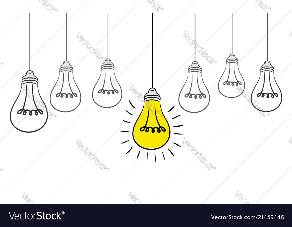 Grunge with hanging light bulbs and