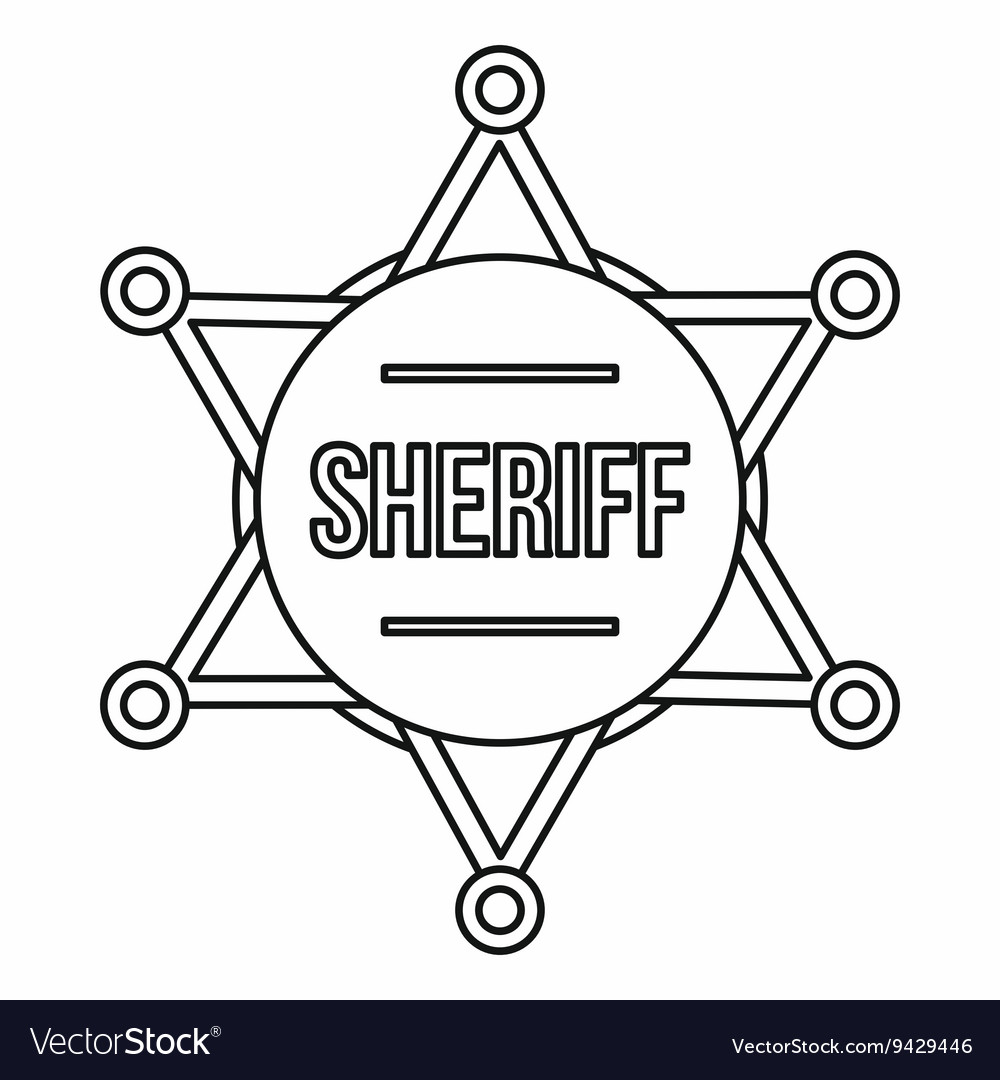 Sheriff Badge Template Police Badge Drawing At Getdrawings Com Free