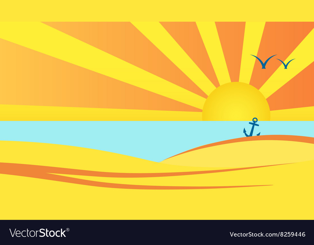 Sunny-Beach-Background-380x400 vector image